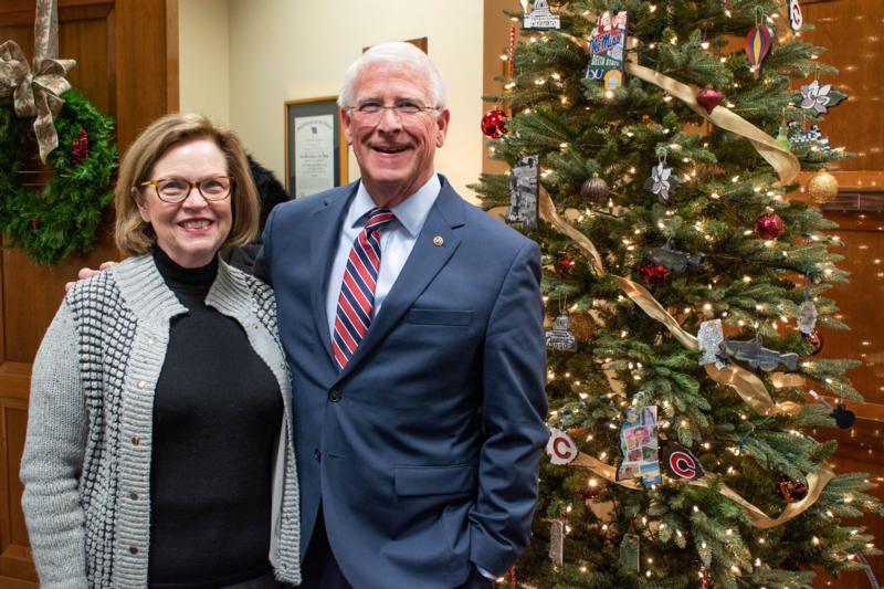 WASHINGTON - U.S. Senator Roger Wicker, R-Miss., celebrated the start of the Christmas season by decorating his Washington, D.C., office Christmas tree with ...